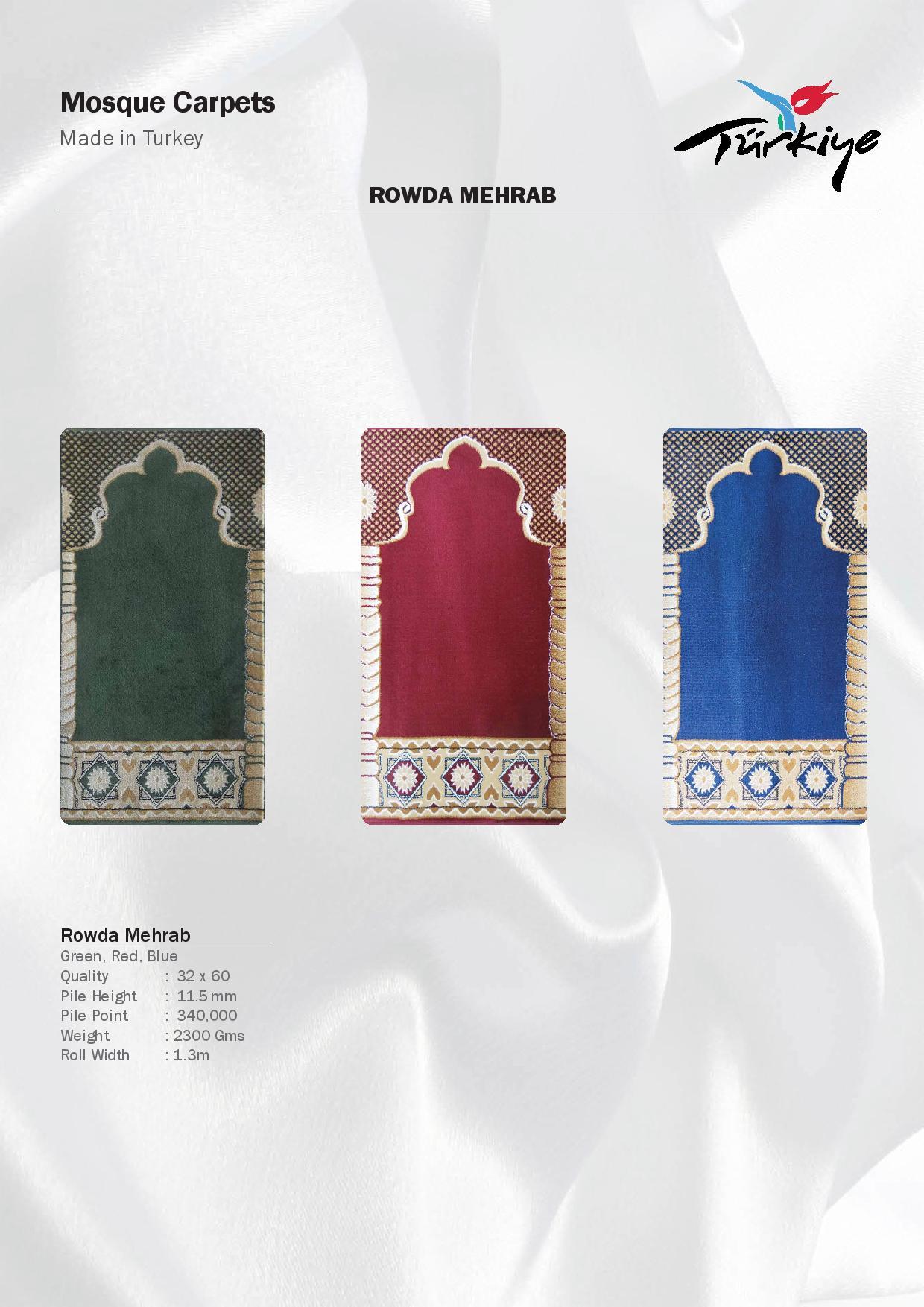 Mosque-Carpets-Rowda Mehrab