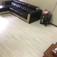 vinyl flooring with sofa upholstery in dubai