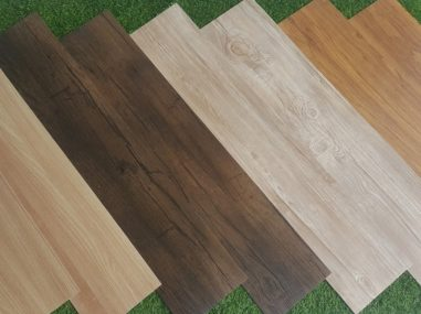vinyl tiles in wood design