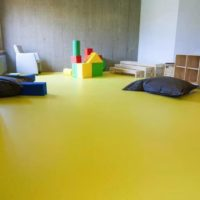 yellow color vinyl flooring for kids plays area in dubai